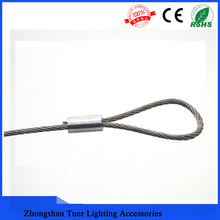 Factory price provide low wire rope sling with aluminium clip