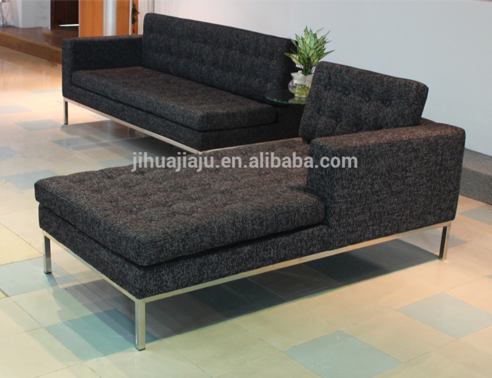 Office Furniture Leather /Fabric Florence Knoll Corner Sofa JH-190