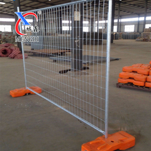 2.1mX2.4m removable Orange base galvanized temporary fence for Australia