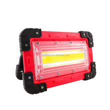 2018 hotcake 824 30W mini COB Led home outdoor battery operated portable work emergency rechargeable flood light for camping