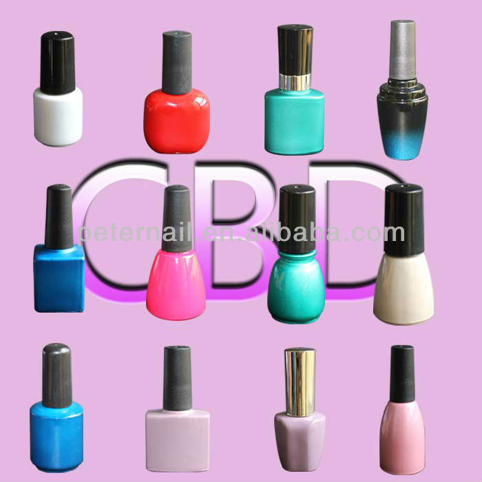 Different shape of nail gel polish bottle