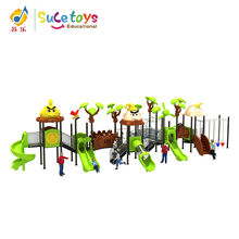 Ce Approved Cheap Customized Joyful Kids Outdoor Playground Plastic Equipment Toy For Children With Rubber Tiles