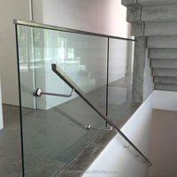 Easy to install toughened glass balastrade design with aluminium base shoes U channel glass railing