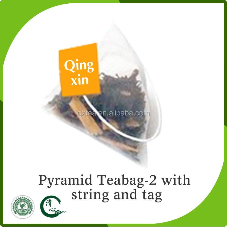 Triangle Shaped Teabag pyramid tea bags with Tag