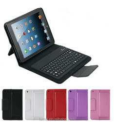 PU Stand Leather Case Cover With Bluetooth Keyboard For iPad mini 1/2/3