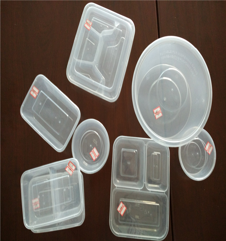 Disposable plastic food container take away meal lunch box