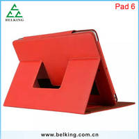 Hand Grip Leather PU Cover Back Case For iPad 6/Air2, For iPad 6 Cards Storage Case