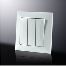 Fire Proof PC Panel electrical 3 gang 1 way wall switch