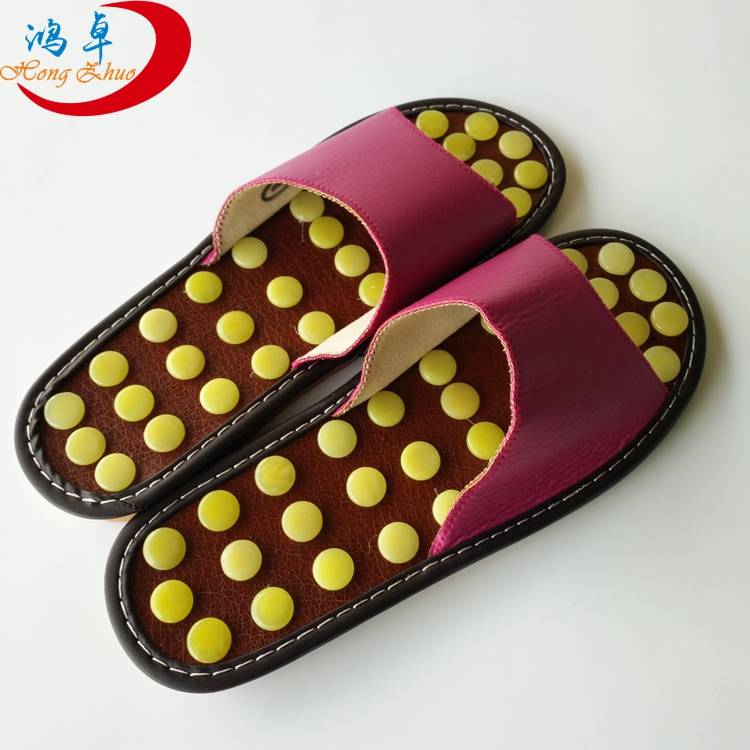 Heating foot therapy jade slipper foot therapy jade slipper shoes Massage shoes health care/massaging slipper