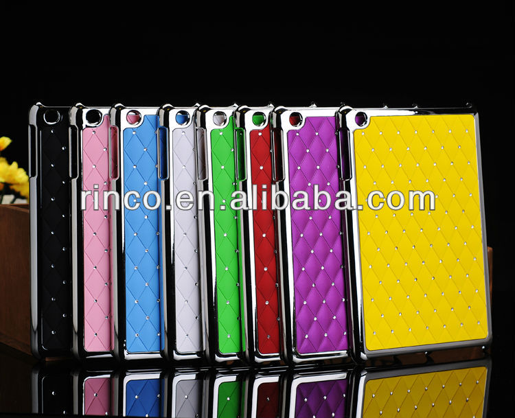 Bling Starry rhinestone Plating Hard Back Case Cover for Apple iPad mini