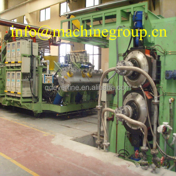 wide rubber sheet extrusion calendering line