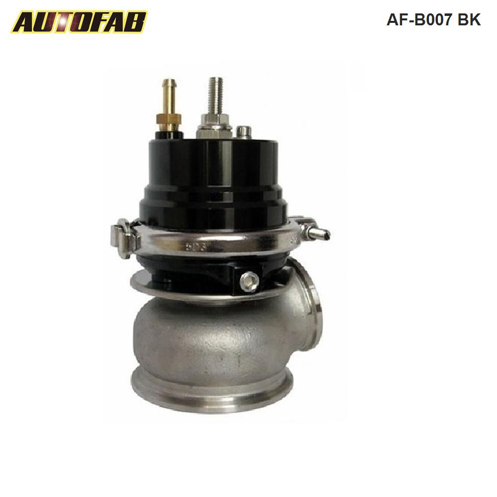 AUTOFAB --Black 60MM Turbo Charge Manifold Exhaust V-Band <strong>External</strong> <strong>Wastegate</strong>+12PSI Spring AF-B007 BK