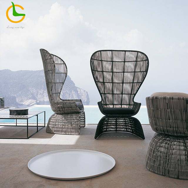 New design 3 seater outdoor synthetic rattan garden sofas