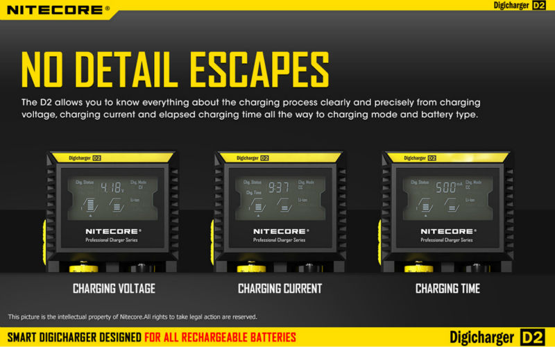 100% Original NiteCore d2 Multi Charger for E Cigarette