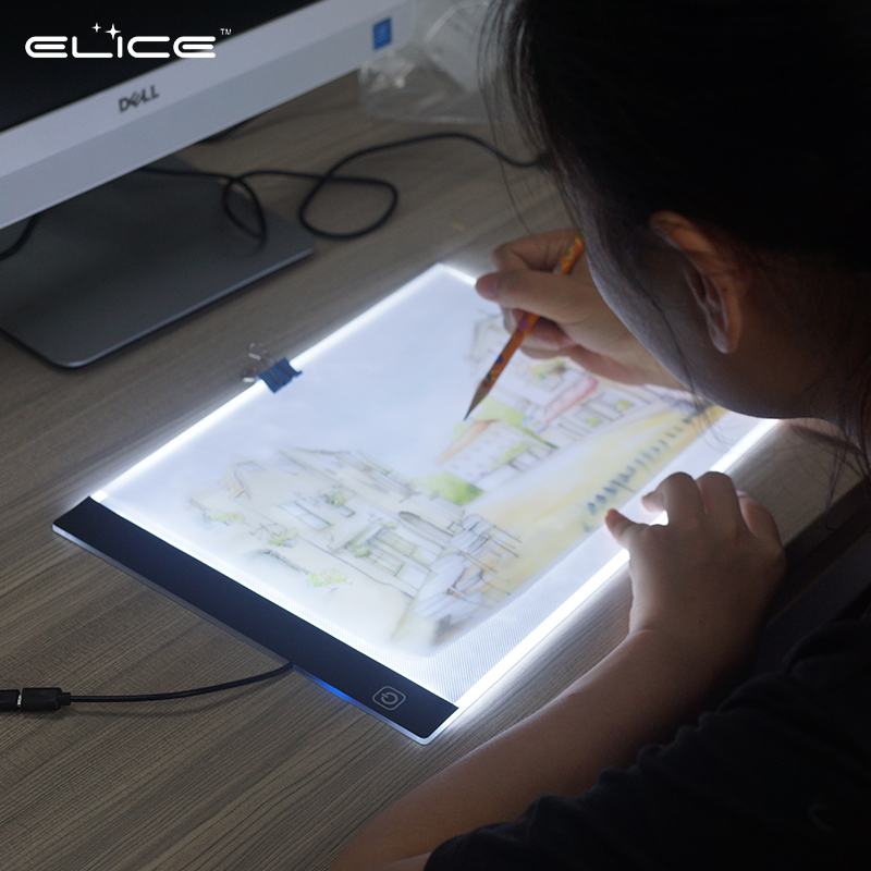 Children's Best A4 Drawing Light Box Art craft Sketching Descendants LED Light Up Copy Board Adjustable Thin Tracing Light Pad