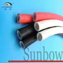 Silicone extruded rubber for liquid with braided outside fiberglass sleeving