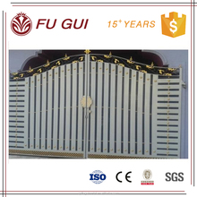 long service life customized color iron pipe gate designs for home