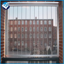 brown color architectural aluminium metal drapery