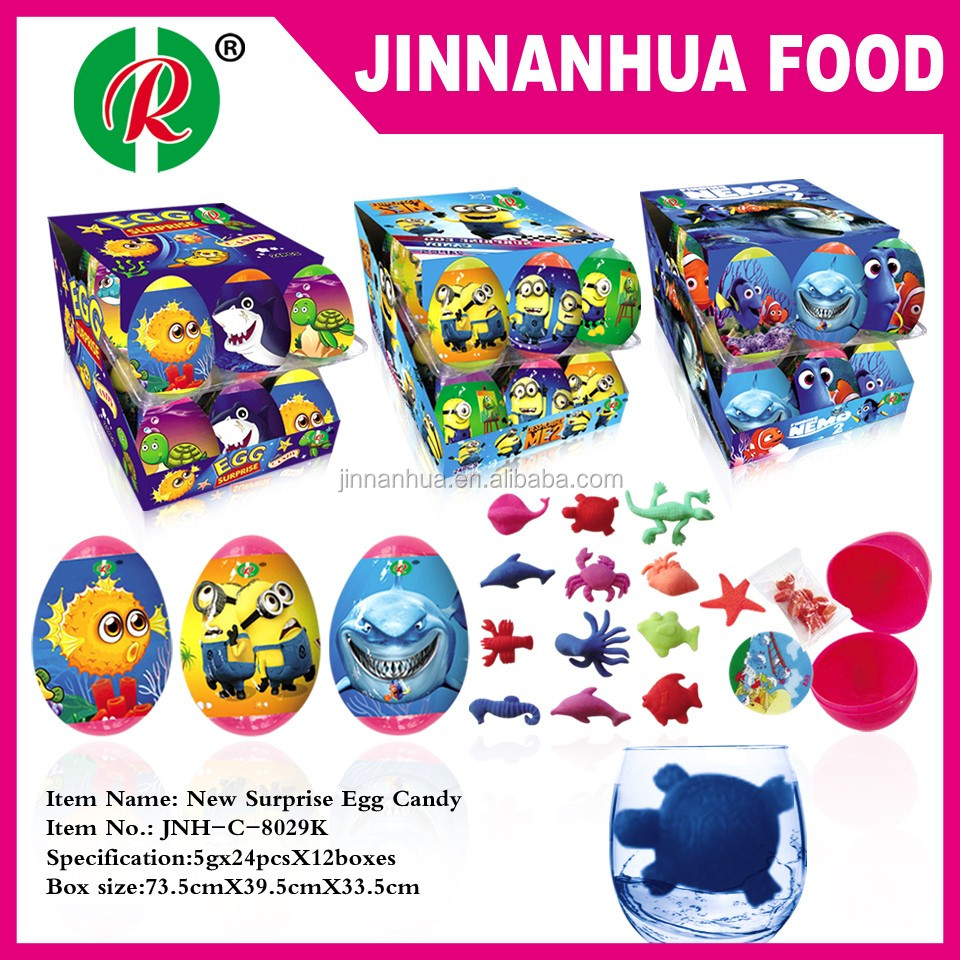 new surprise egg candy toys