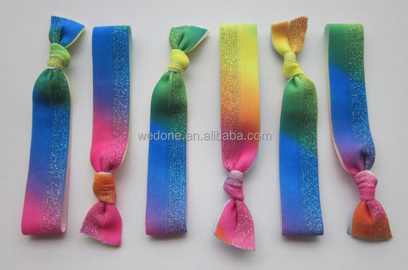 Metallic Elastic Ribbon For Hair Ties& Headbands