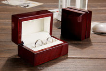 Luxury Glossy Packaging Wooden Ring Box/jewelry packaging china manufacturer