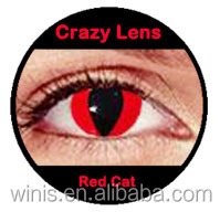 wholesale korean cosmetics halloween crazy red cat eye contact lenses