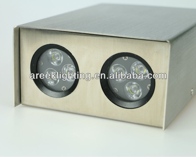 brushed stainless steel outdoor up and down wall light IP65