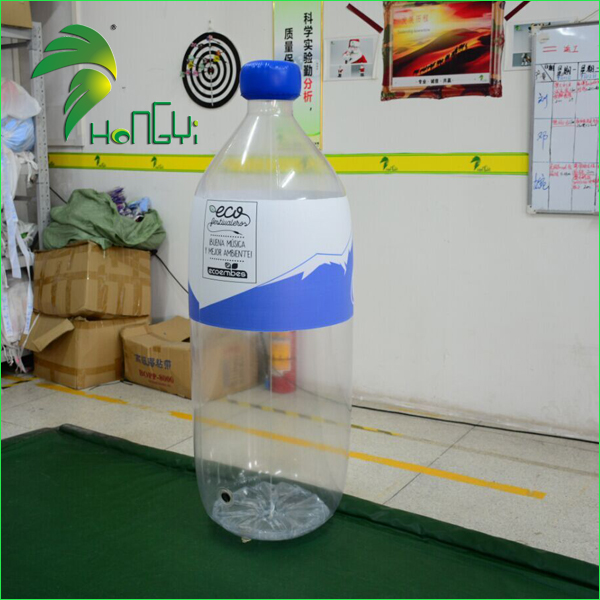 Giant Inflatable Transparent Inflatable Drink Bottle / Promotional Inflatable Replica Clear Water Bottle