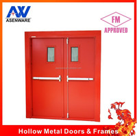 FM listed fire rated door with panic bar