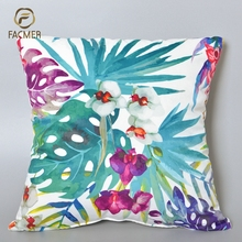 Wholesale New cushion design Latest Design Rain Forest Digital Printed 45x45 Cushion Cover for sofa