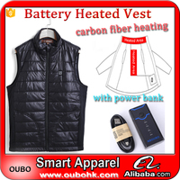 Men sleeveless jacket best selling simple style vest custom high quality with heated system electric heated vest warm OUBOHK