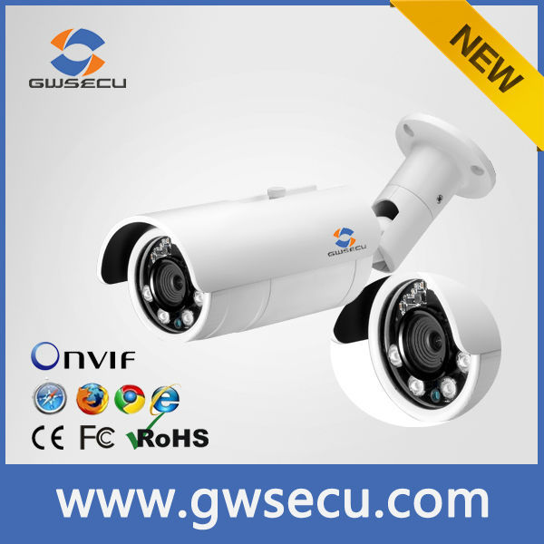 shenzhen Guowei H.264 Video Alarm Outdoor HD Network Camera Bullet POE 5mp ip cam hd