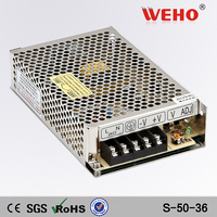 50w 12v 24v 36v led driver psu industrial power supply