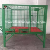 Square Tube Dog Cage With Plastic Wheels And Heavy Duty Dog Cage With Plastic Floor