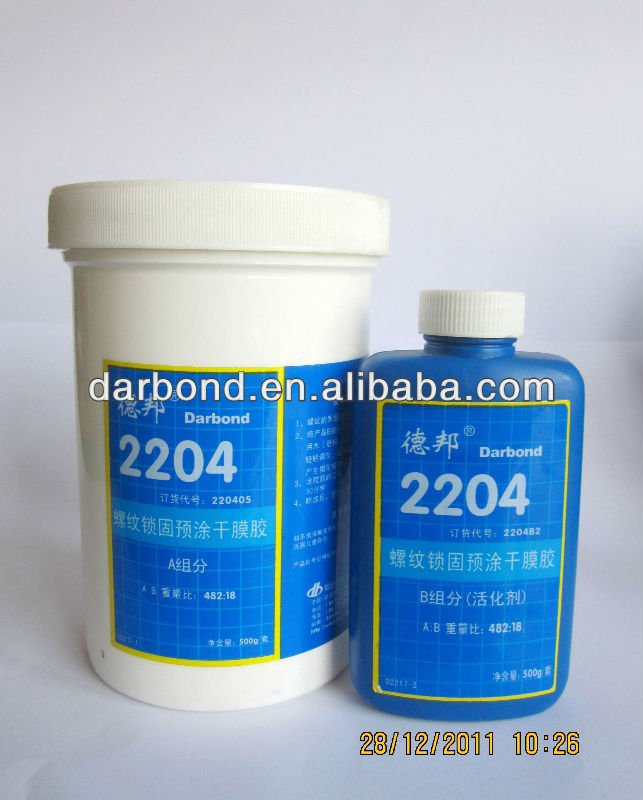 High Strength Pre-applied Thread locking Adhesive& Sealant 2204