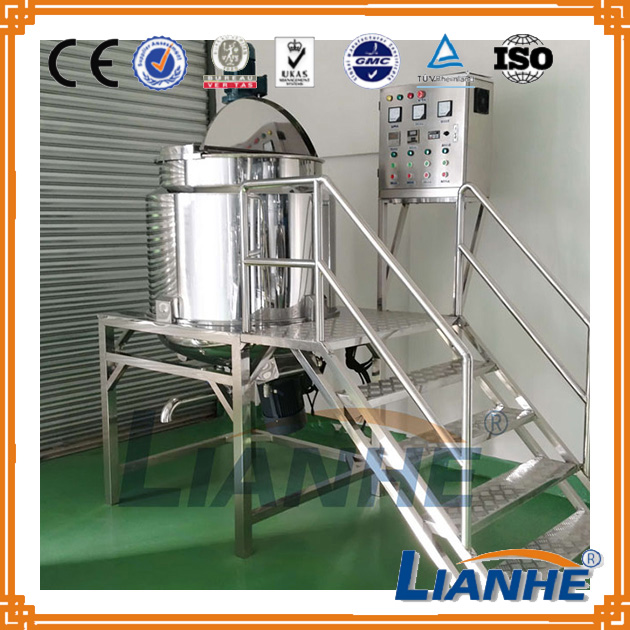 CE proved detergent homogenizing mixer machine, oil mixing tank for shampoo