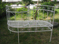 Very Nice Folading Wrought Irons Vintage Classic Unique Retro Patio Metal Half Moon Sofa