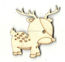 laser cutting wooden light deer christmas decoration