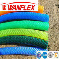 High Quality Plastic PVC Textile Braided Non-torsion Crochet Garden Water Hose For Irrigation