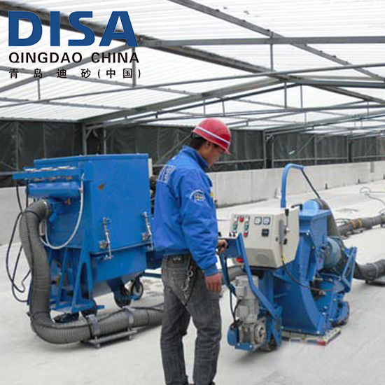 Portable shot blasting machines for concrete floor