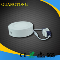 2015 hot sell led panel light 6w surface mounted round panel light with CE RoHs