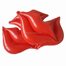 Custom giant inflatable lips/large inflatable red mouth model