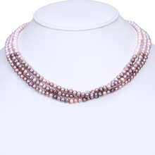 Hot Sale Jwellery Multi Layer Bead Freshwater Pearl Necklace