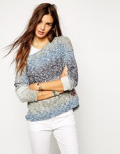 High fashion design women knitting top shoulder off top casual sweater top