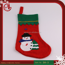 Popular Snowman Christmas Stocking For Party Decoration Children XMAS Socks