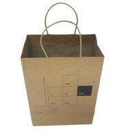 grocery industry use printed brown kraft paper bag