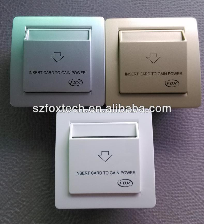 FOX high quality RFID hotel card key switches with M1TEMIC ROOM CARD ONLY functions