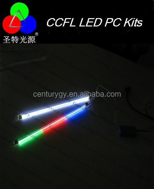 PC Computer DUAL LIGHT KIT Colorful CCFL cold cathode computer neon tube light