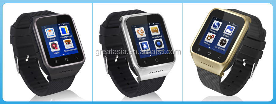 New The first Android 4.4 OS 3G with wifi bluetooth digital watch phone