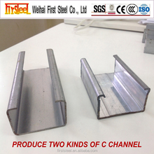 Alibaba.com Cheap roofing material prefabricated house C channel steel beam